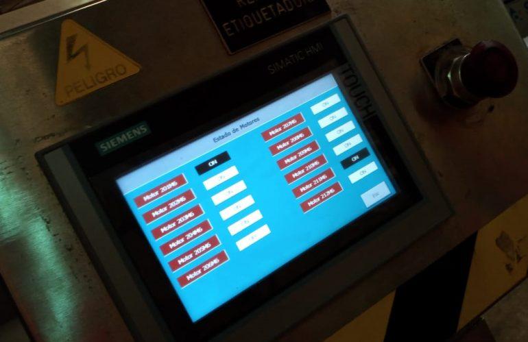 Migración de pantalla táctil HMI en línea de envasado